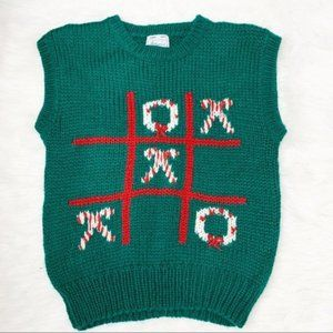 Ugly Christmas Sweater Tic Tac Tow Candycane Vest